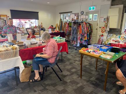 Craft market in Epsom Hall