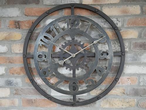Brushed Metal Clock**Please Read Listing**