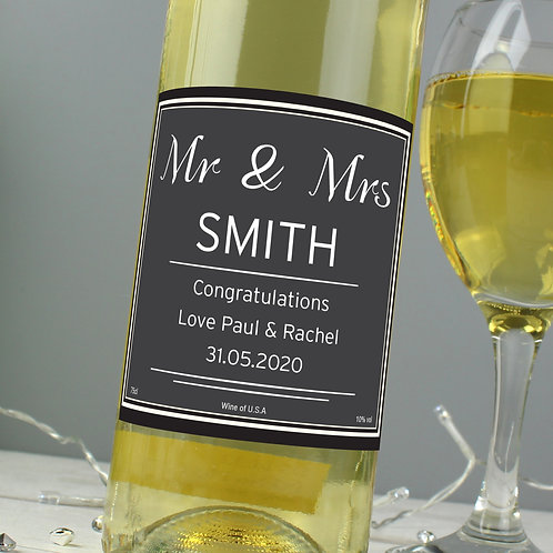 Personalised White Wine
