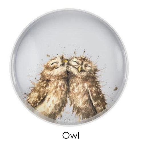 Pre Order Round Wrendale Tray - Owl
