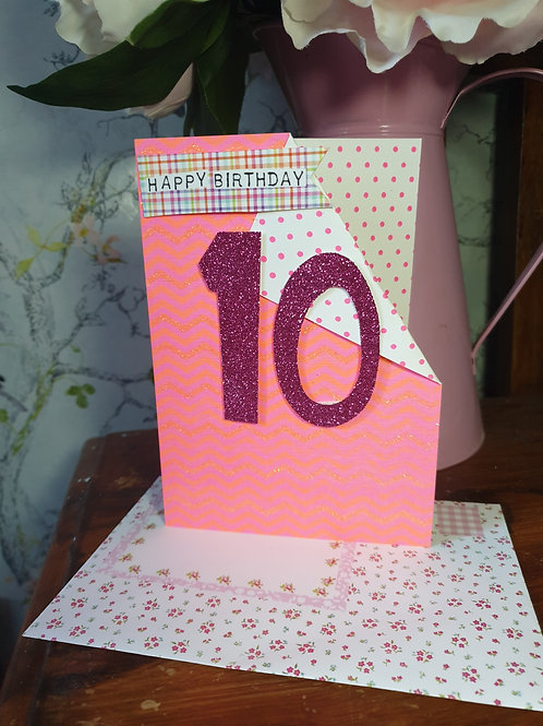 10th Birthday Card