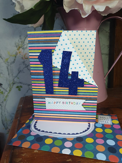 14th Birthday Card