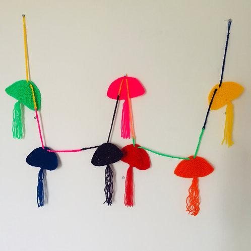 Crochet Rainbow Bunting Pattern, Rainbow Garland, Crochet pattern, Nursery Decor