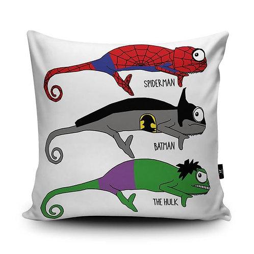 Vegan Suede Super Hero Handmade Cushion