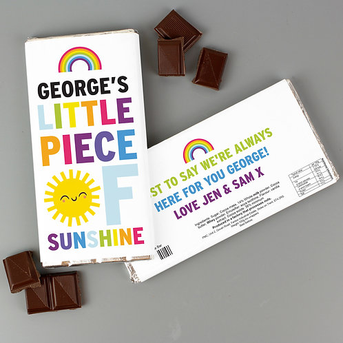Little Piece Of Sunshine Personalised Chocolate