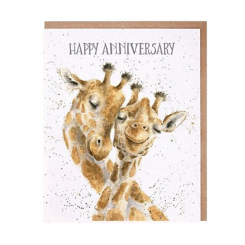 Wrendale Anniversary Card - Giraffe