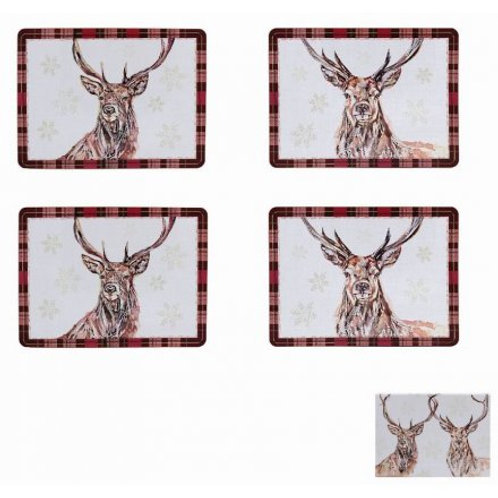 Winter Stag Placemat Set of 4