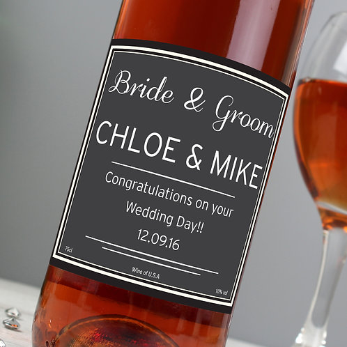 Personalised Rose Wine