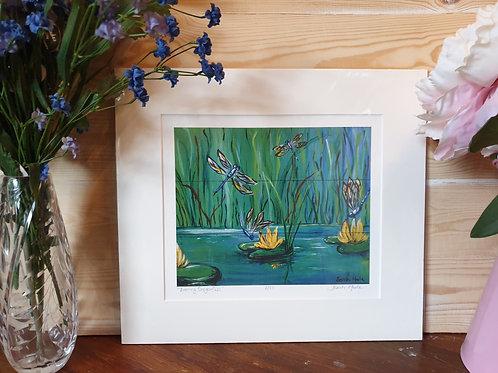 Water Meadow Mallards Print