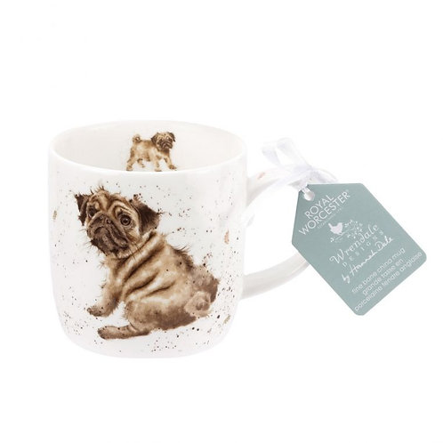 Wrendale Royal Worcester Pug Mug
