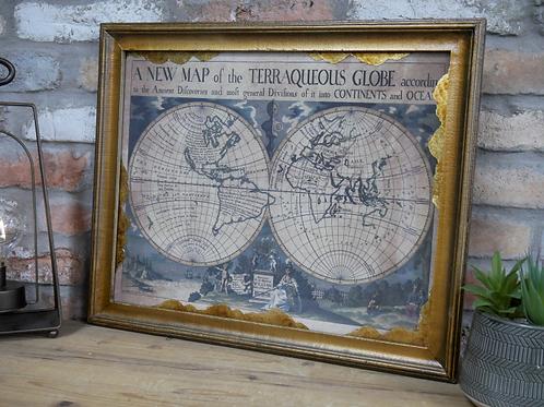 Antique Style Globe Picture **Please Read Full Description