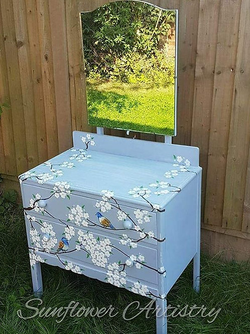 Hand-painted restored 1920's Dressing Table