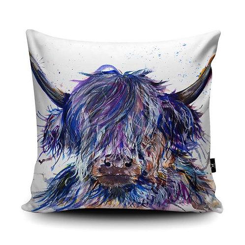 Vegan Suede Splatter Cow Handmade Cushion