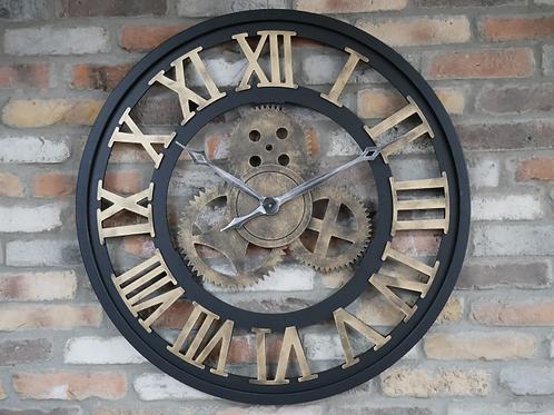 Black & Gold Metal Clock