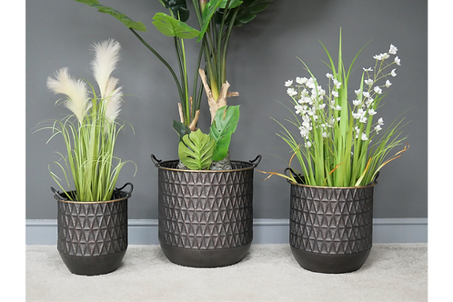 Set Of 3 Metal Planters **Please Read Product Listing**