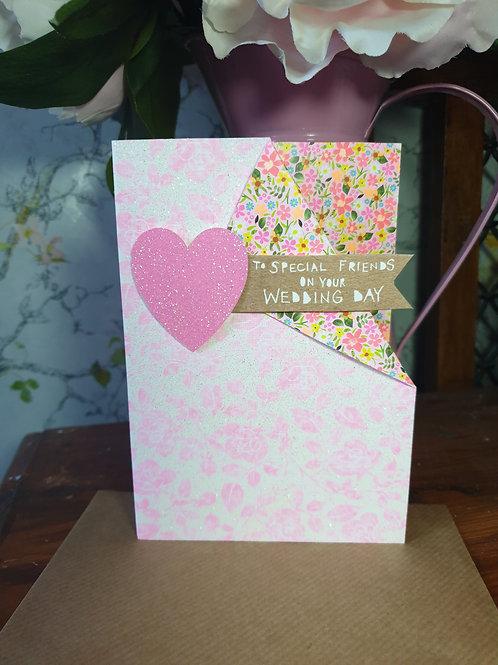 Special Friends Wedding Card