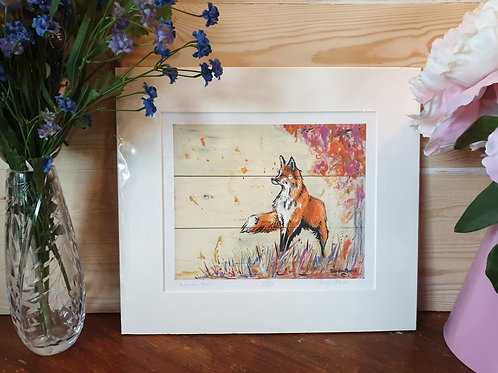 Autumnal Fox Print