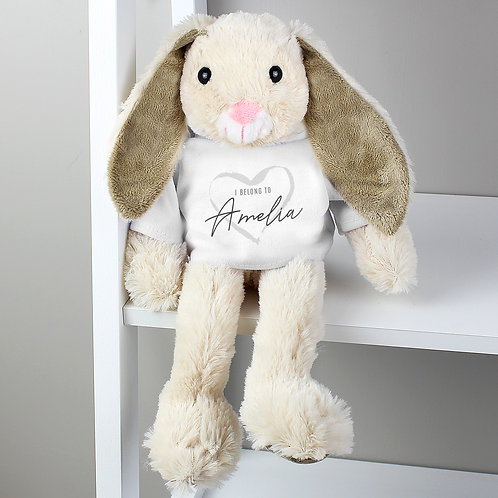 'I Belong To' Personalised Bunny