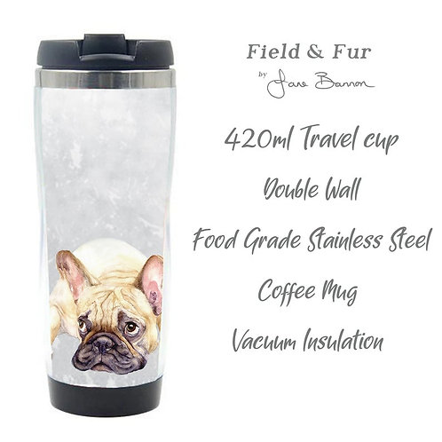 French Bulldog Double Wall Travel Mug