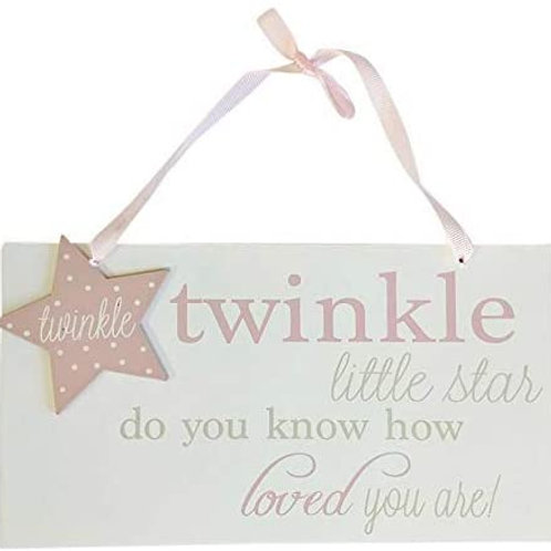 Twinkle Twinkle Sign **BLUE - Seconds