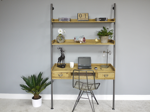 Industrial Desk With Shelves **Please Read Listing**
