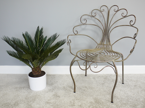 Antique Style Peacock Chair **Please Read Listing**