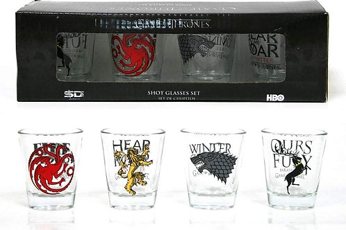 Game Of Thrones Shot Glasses Set