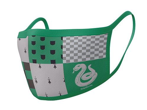 Official Harry Potter Slytherin Face Mask Double Pack