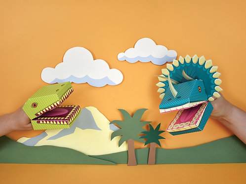 Make Your Own Dinosaur Puppets