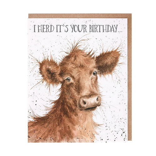 Wrendale Herd It's Your Birthday Card