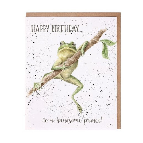 Wrendale Handsome Prince Birthday Card