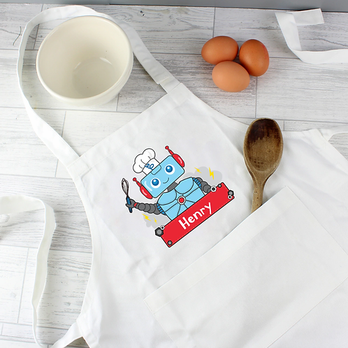 Personalised Children's Apron - Robot