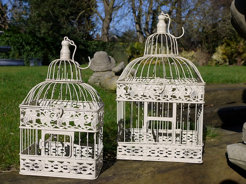 Set Of Vintage Style Bird Cages - Rectangle **Please Read Listing**