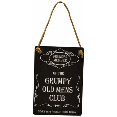 Grump Old Mens Club Mini Metal Sign