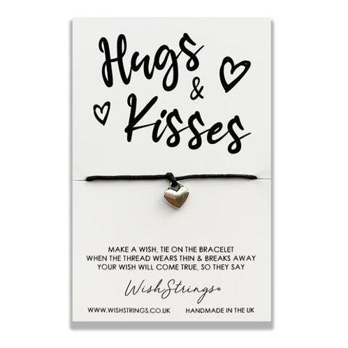 Hugs & Kisses Card Wish Bracelet