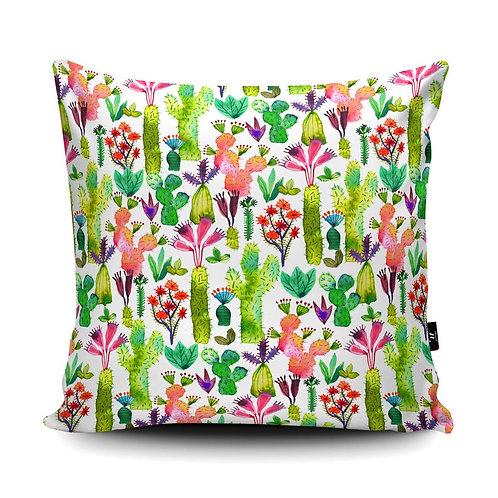 Vegan Suede Cactus Handmade Cushion