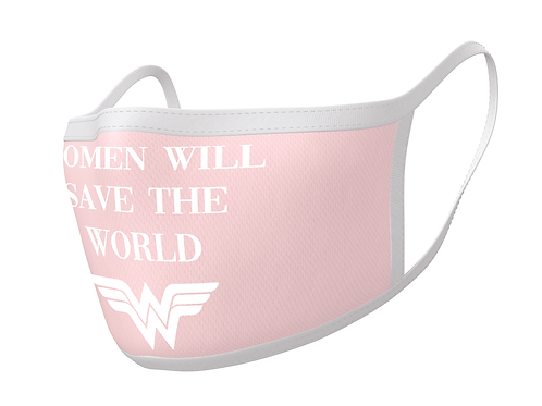 Official Wonder Woman Face Mask Double Pack