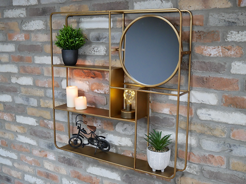 Gold Mirrored Unit **Please Read Listing**