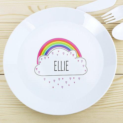 Personalised Rainbow Plate
