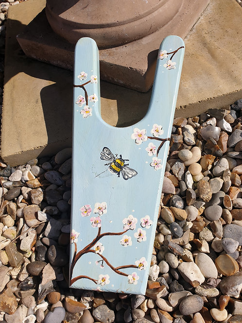 Hand-made and hand-painted Boot Pull - Blossom Bee