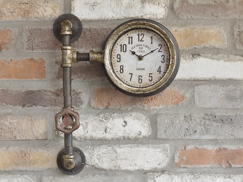 Rustic Pipe Clock **Please Read Listing**