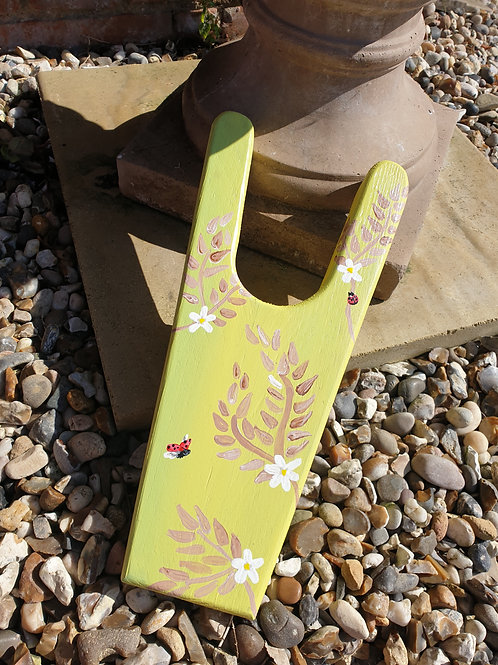 Hand-made and hand-painted Boot Pull - Ladybird In Flight