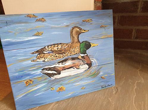 Water Meadow Mallards Original