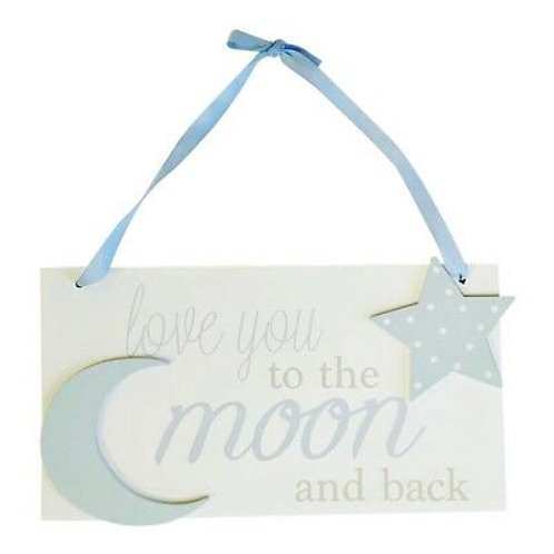 LoveYou To The Moon And Back Sign Blue - Seconds