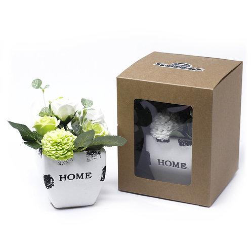 Petite Soap Flower Bouquets - Ceramic Pot