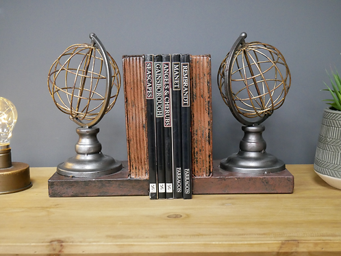 Globe Style Bookends**Please Read Listing**
