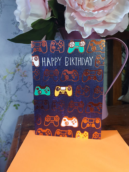 Happy Birthday - Gaming Card