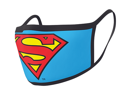 Official Superman Face Mask Double Pack