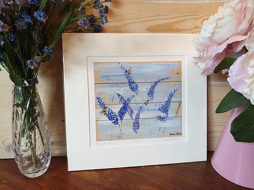 Lavender Bees Print