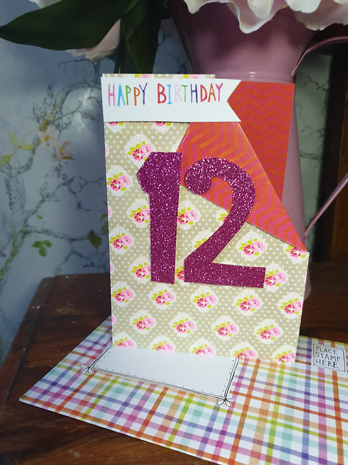 12th Birthday Card